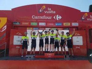 Vuelta guests Podium pic