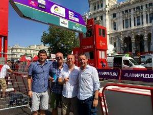 Vuelta guests at finish